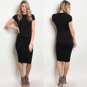 20% OFF 2+🖤 black midi dress